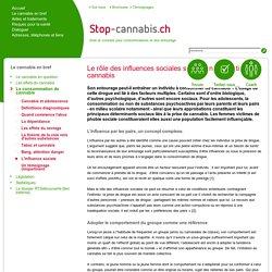 L'influence sociale - Stop-Cannabis.ch - Une aide pour l'arrêt de la consomation du cannabis