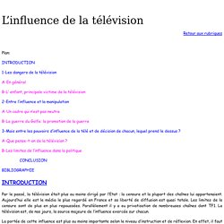 L'influence de la télévision