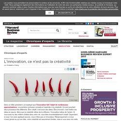 L'innovation, ce n'est pas la créativité
