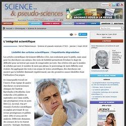 L'intégrité scientifique