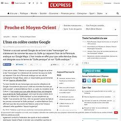 L'Iran en colère contre Google