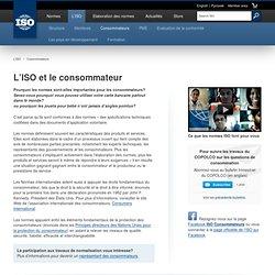L'ISO & le consommateur