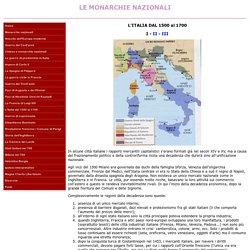 L'ITALIA DAL 1500 al 1700