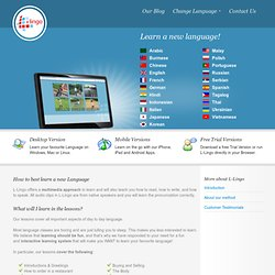 Language Learning Software | L-Lingo Online Application