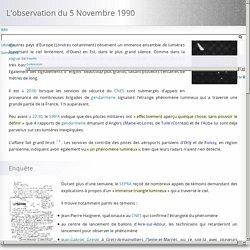 L'observation du 5 Novembre 1990