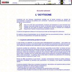 L'ocytocine