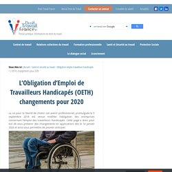 L'OETH, changements pour 2020