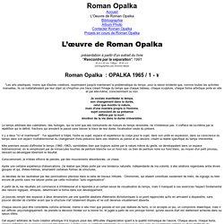 L'Oeuvre de Roman Opalka
