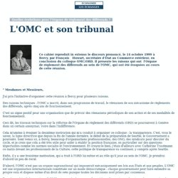 L'OMC et son tribunal