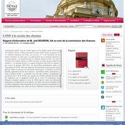 SENAT 02/02/10 Rapport d'information n° 54 de M. Joël BOURDIN, fait au nom de la commission des finances - L'ONF à la croisée de
