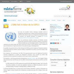 L'ONU fait le bilan de la COP22
