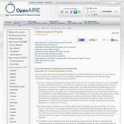 L'Open Access en France