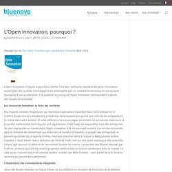 L'Open Innovation, pourquoi ?