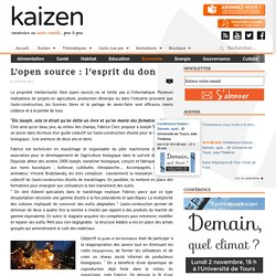 L'open source : l'esprit du don