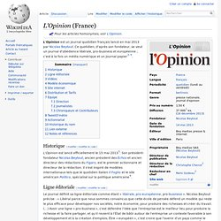 L'Opinion France Wikipédia