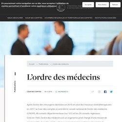 Cour des Comptes - Ordre des Médecins