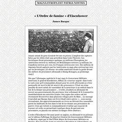 « L'Ordre de famine » d'Eisenhower