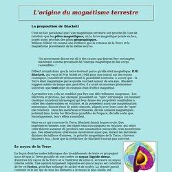 L'origine du magnétisme terrestre