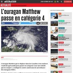 L'ouragan Matthew passe en catégorie 4