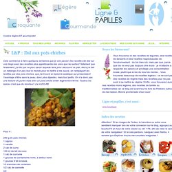 L&P : Dal aux pois chiches