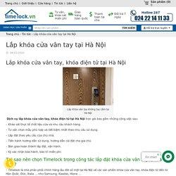 Lắp khóa cửa vân tay tại Hà Nội