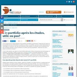 L'e-portfolio après les études, utile ou pas?