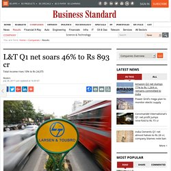 L&T Q1 net soars 46% to Rs 893 cr