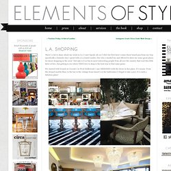 L.A. Shopping « Elements of Style Blog