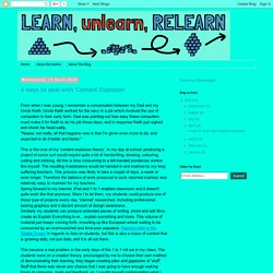 Learn.Unlearn.Relearn.: April 2015