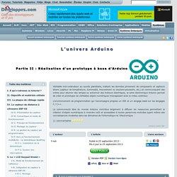 L'univers Arduino (2/2)