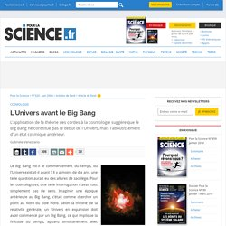 Article - L'Univers avant le Big Bang