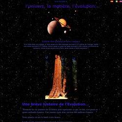 L'univers et la matière