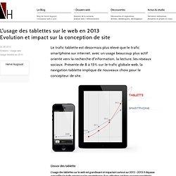 L'usage des tablettes sur le web en 2013