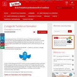L'usage de Twitter en formation