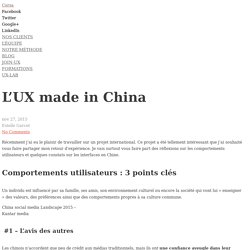 L'UX made in China