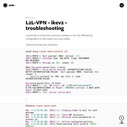 L2L-VPN - ikev2 - troubleshooting