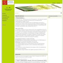 L3 - ME — Mathématiques pour l'Enseignement