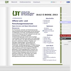 L3T Kapitel: Open Access und Open Educational Resources