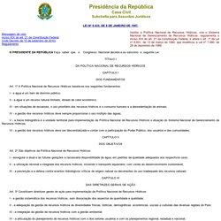 Lei das Águas do Brasil - nº 9.433/1997