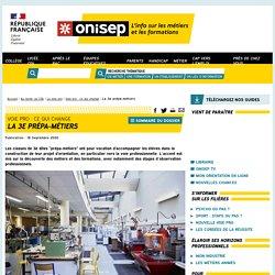 La 3e prépa-métiers - Onisep