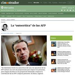 """La """"autocrítica"""" de las AFP"""