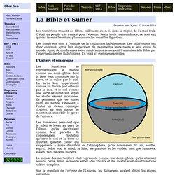 La Bible et Sumer