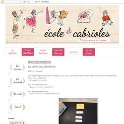 Ecole et Cabrioles, une école Montessori à la maison : La boîte des phonèmes
