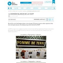 La bonne blague de la RATP