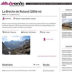 La Brèche de Roland (2806 m)