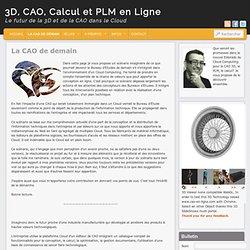 3D, CAO, Calcul et PLM en Ligne