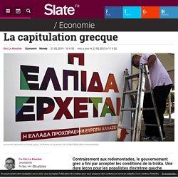 La capitulation grecque