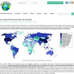 La carte d'internet dans le monde
