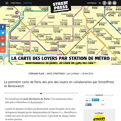 La carte des loyers par station de métro