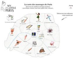 La carte des massages de Paris